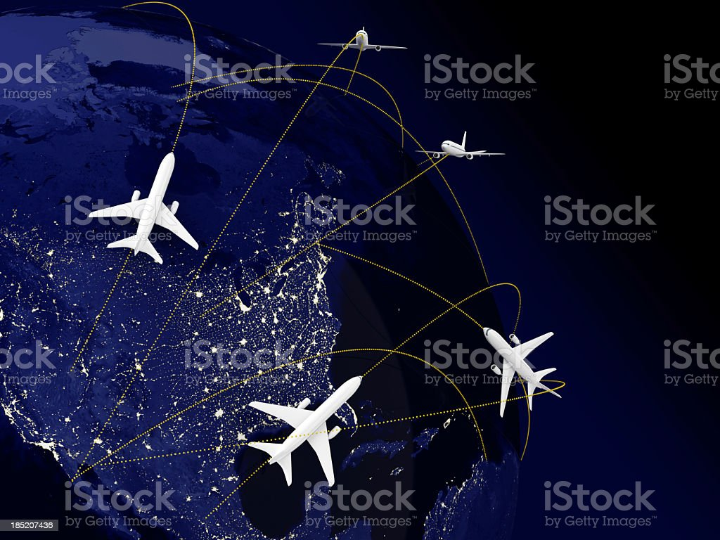 World Travel North America royalty-free stock photo