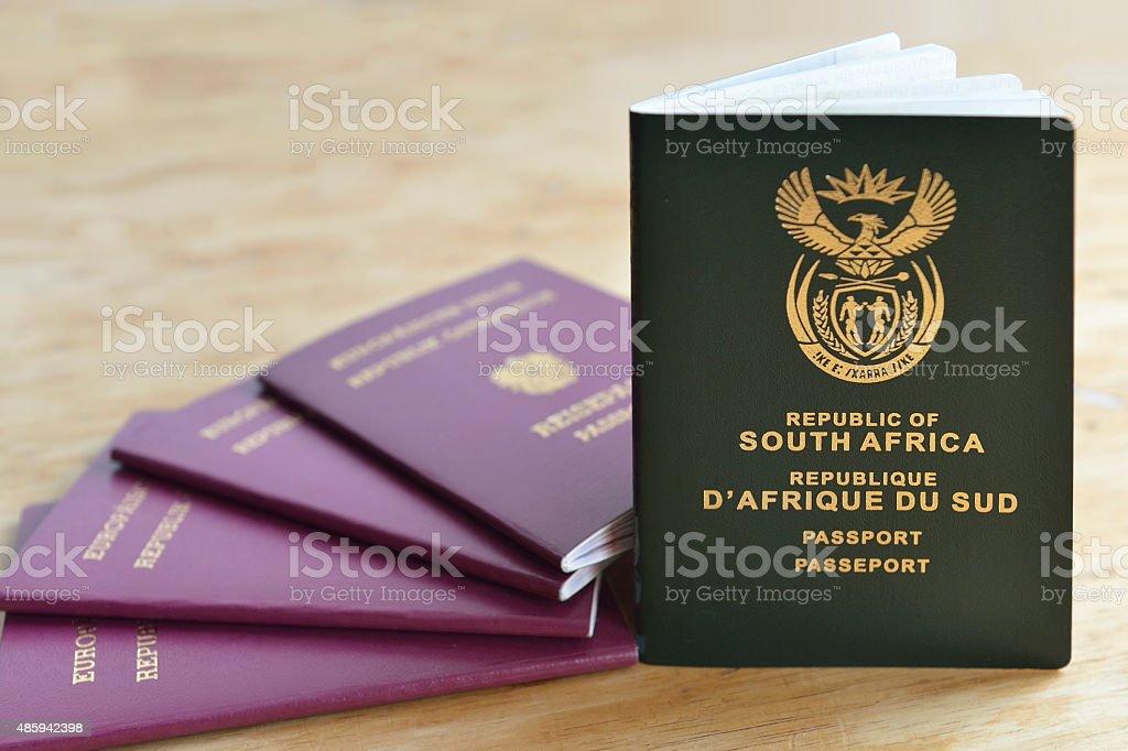 World Traveler Passport stock photo