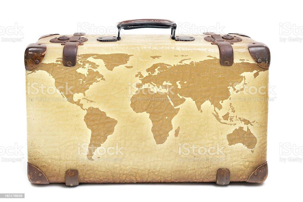 World Traveler's Suitcase royalty-free stock photo