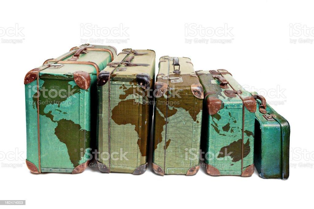 World Traveler's Suitcases royalty-free stock photo