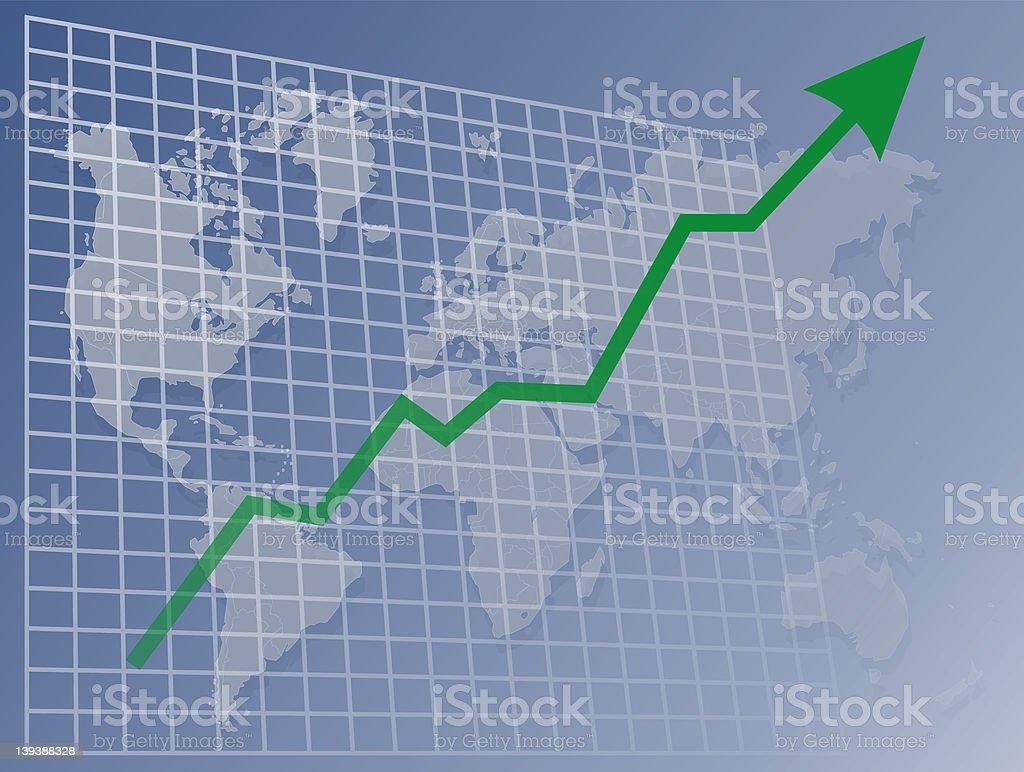 世界の上向きチャート ロイヤリティフリーストックフォト