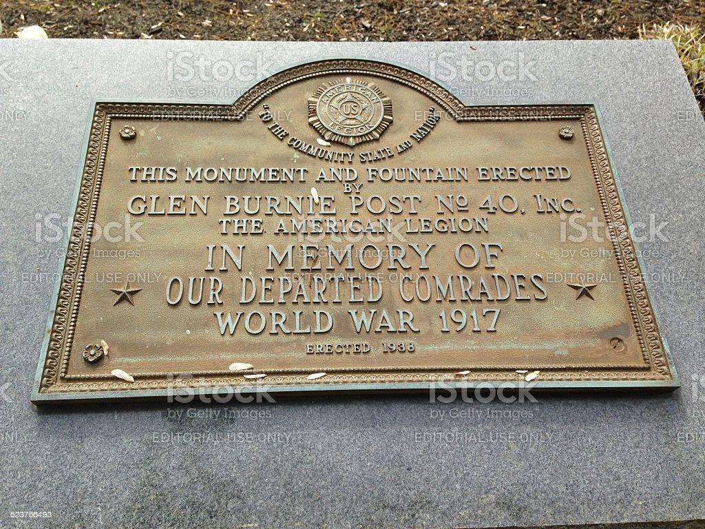 World War 1 Centenary stock photo