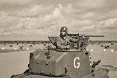 World War 2 Armored Tank on Beach