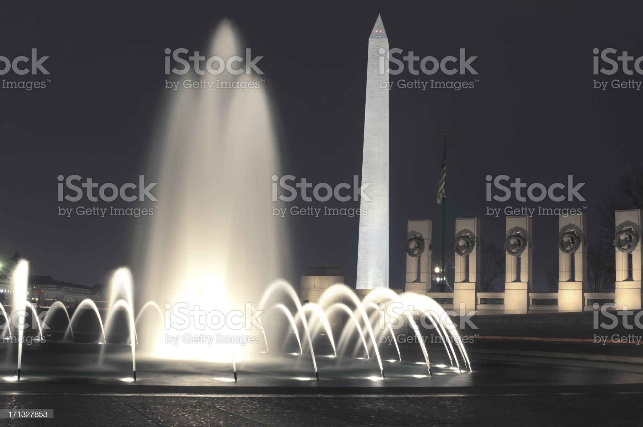 World War 2 Memorial in DC royalty-free stock photo