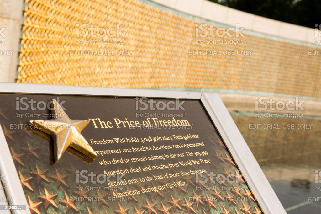 World war 2 memorial in Washington DC stock photo