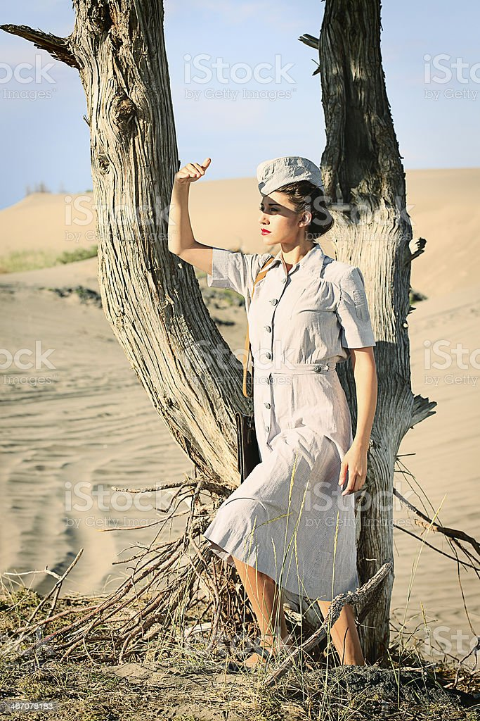 World War 2 Nurse royalty-free stock photo