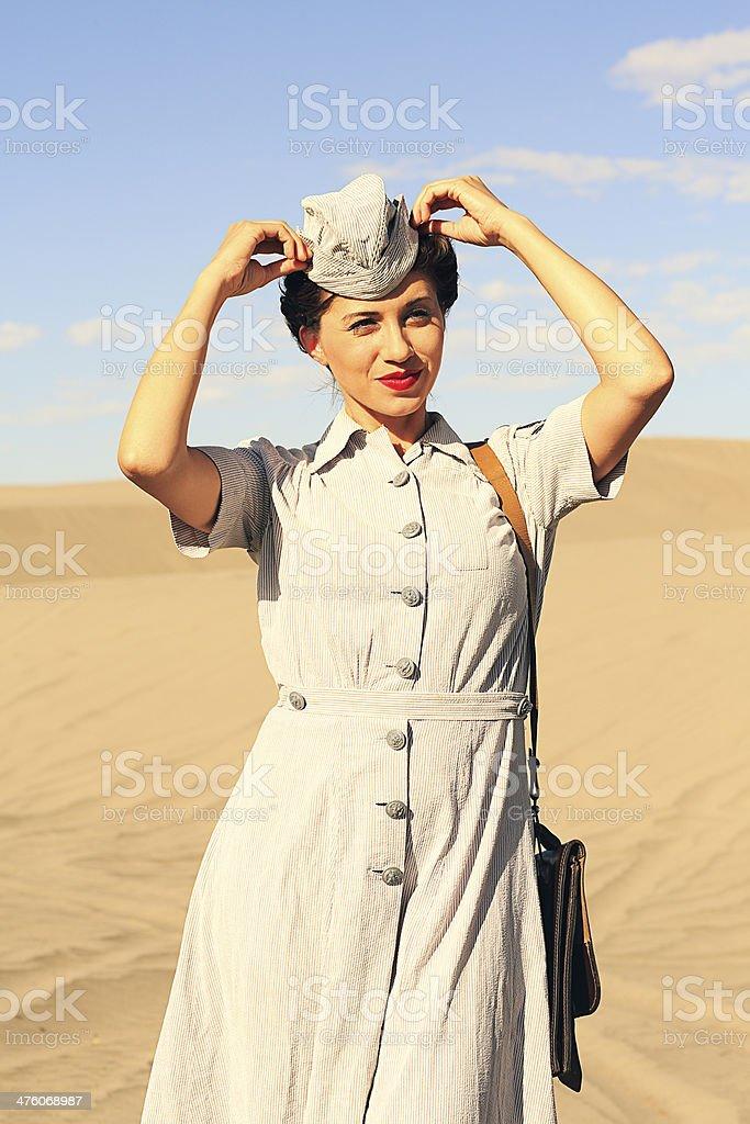 World War 2 Nurse stock photo