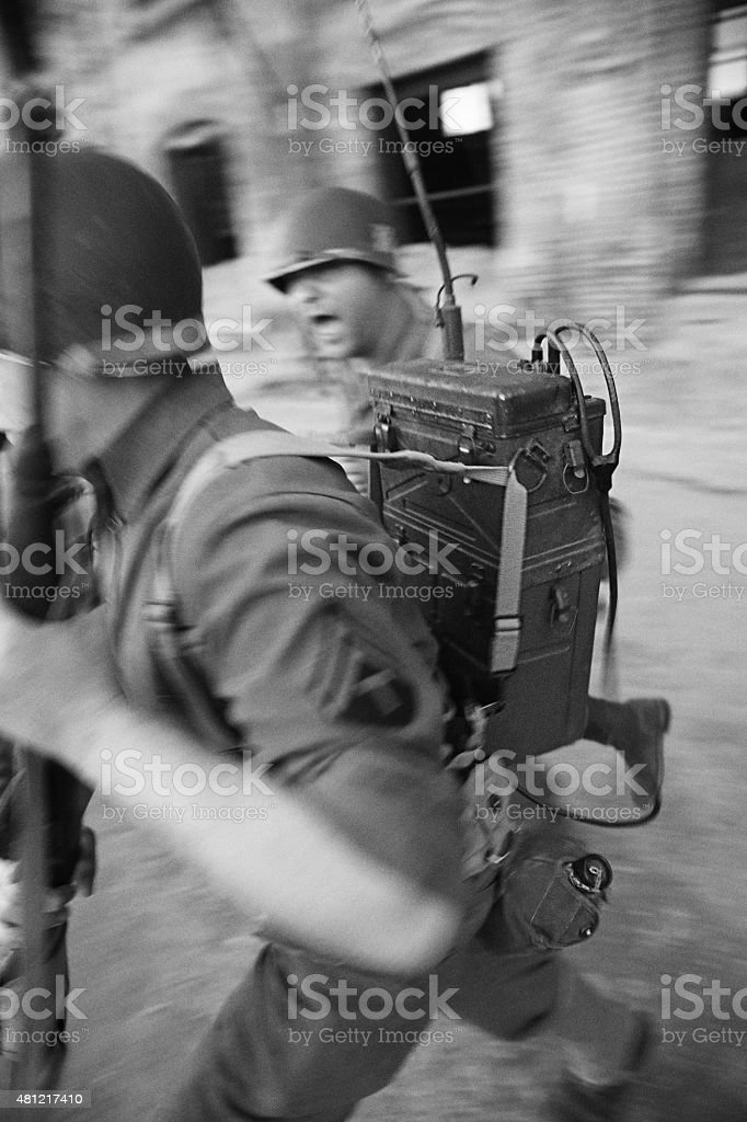 World War 2 Soldiers In Combat stock photo
