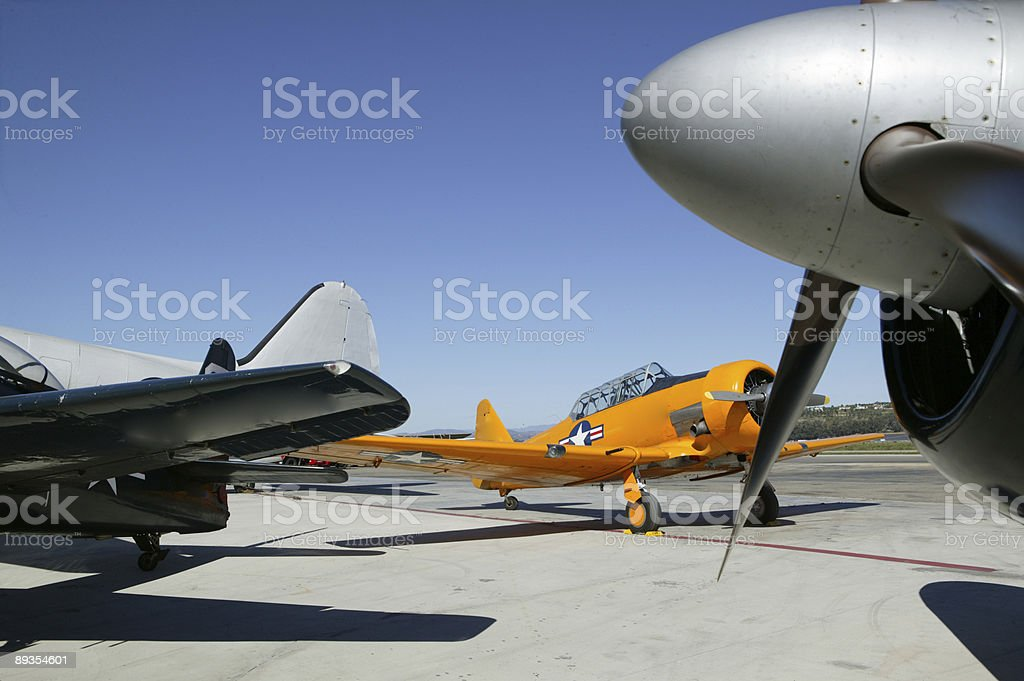 World War 2 USAF navy trainer plane royalty-free stock photo
