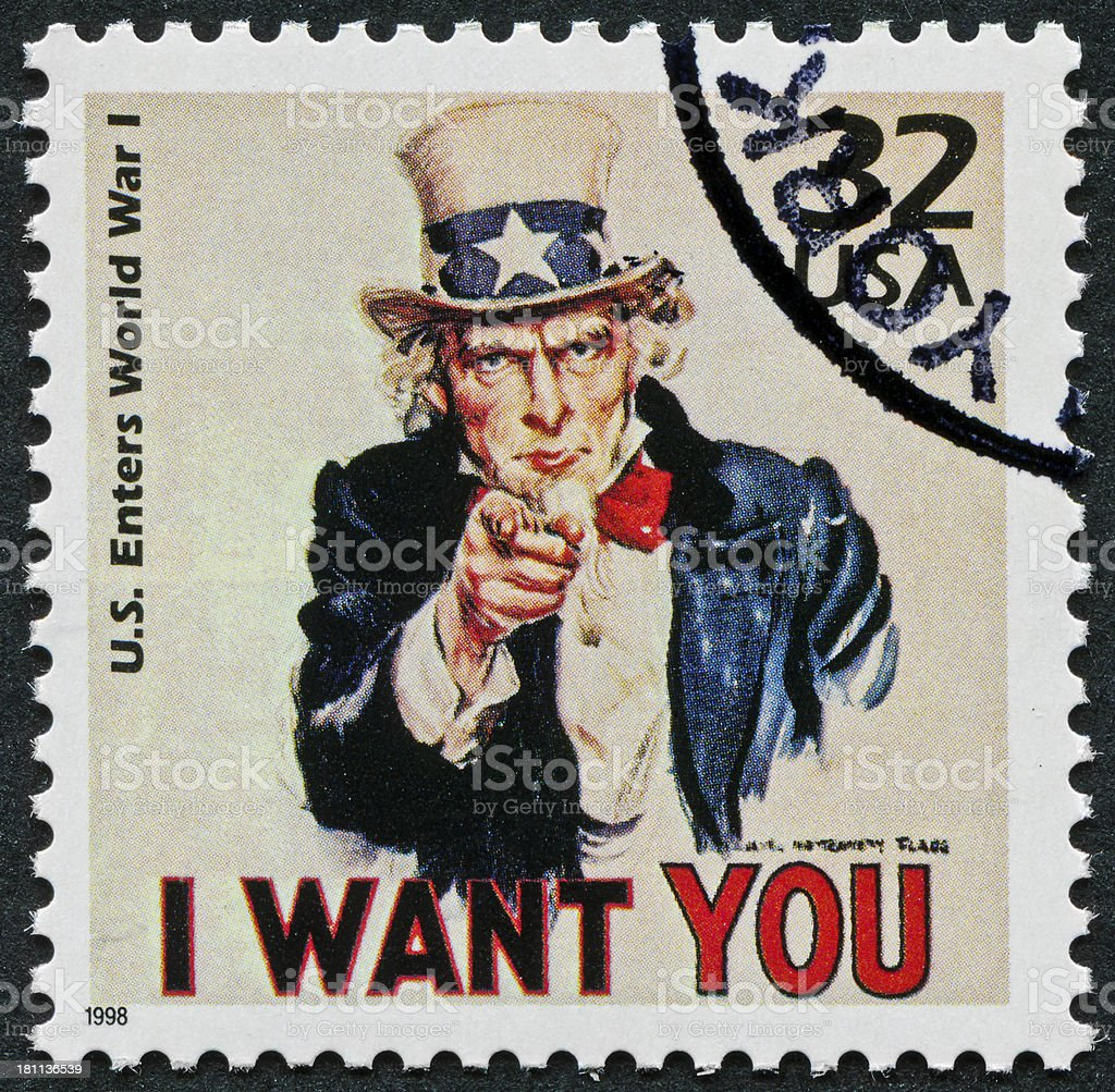 World War I Stamp stock photo
