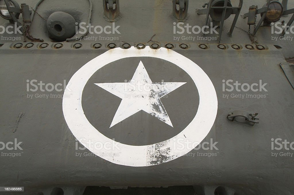 World War II Allied Battle Tank royalty-free stock photo