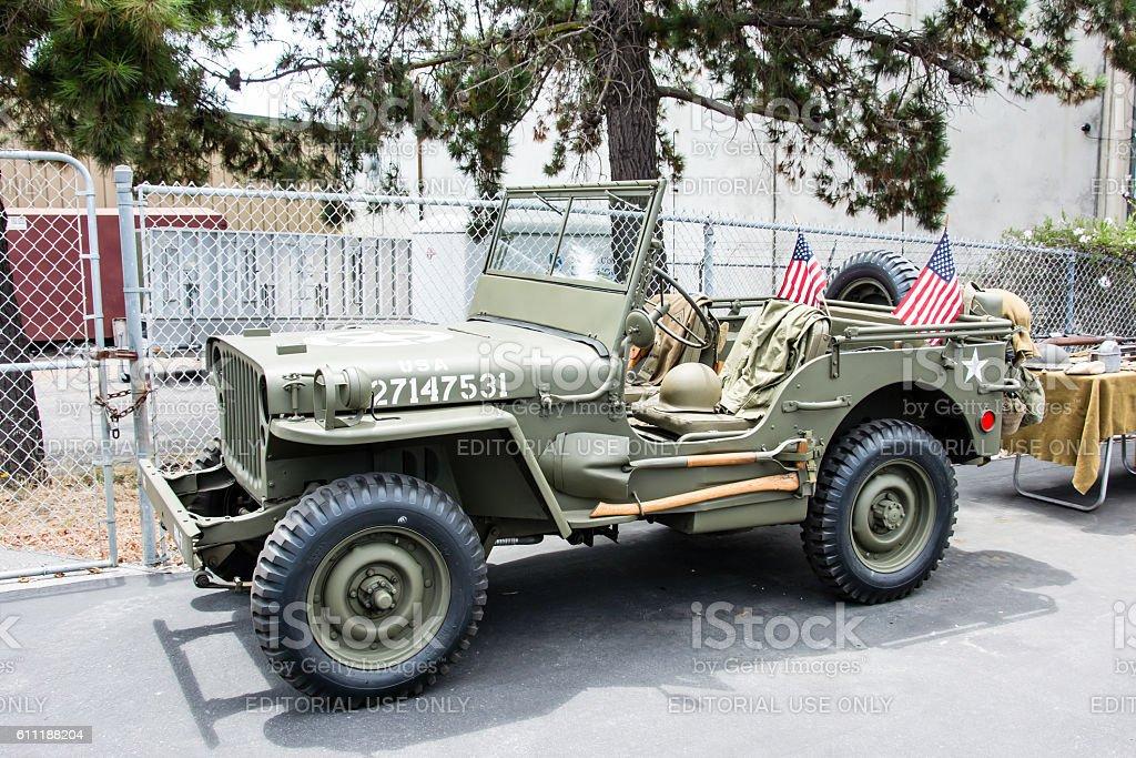 World War II Army Jeep stock photo