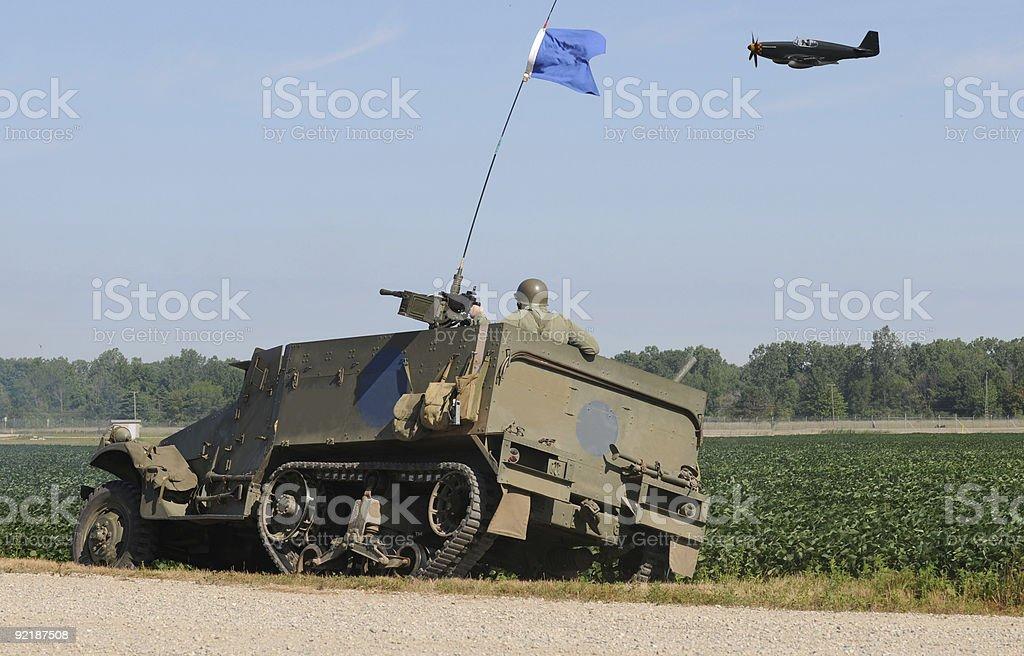 World War II battle stock photo