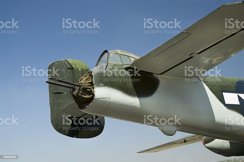 World War II Bomber Tail Gunner Section royalty-free stock photo