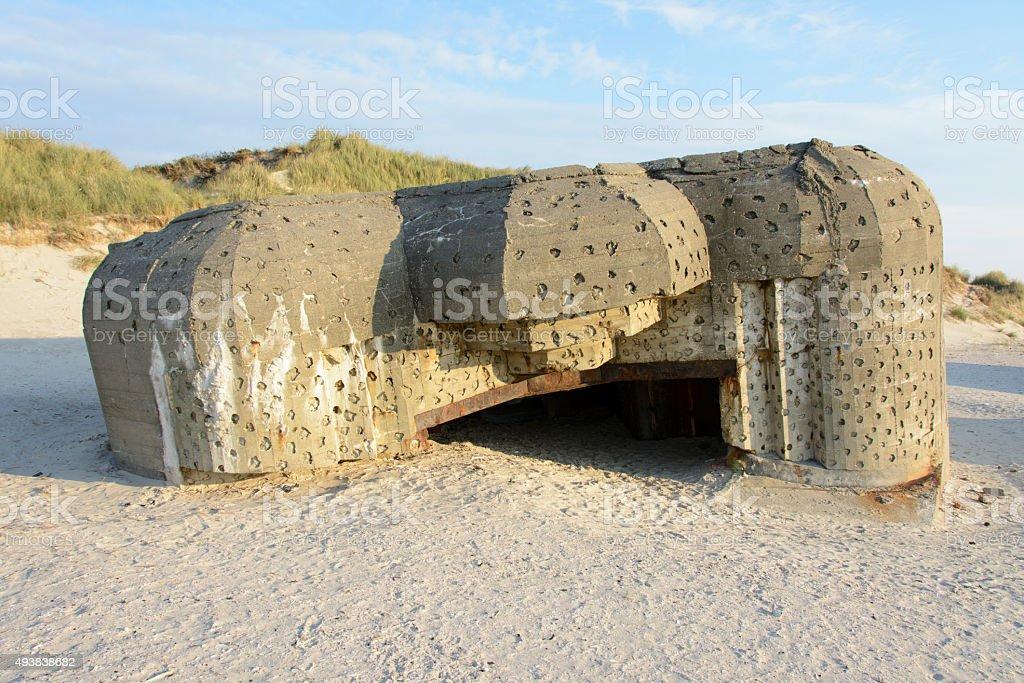 World War II bunker stock photo