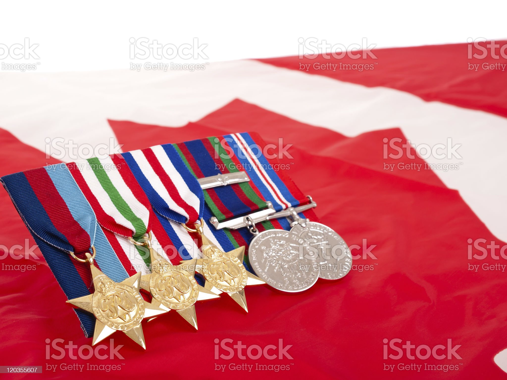 World War II Canadian medals royalty-free stock photo