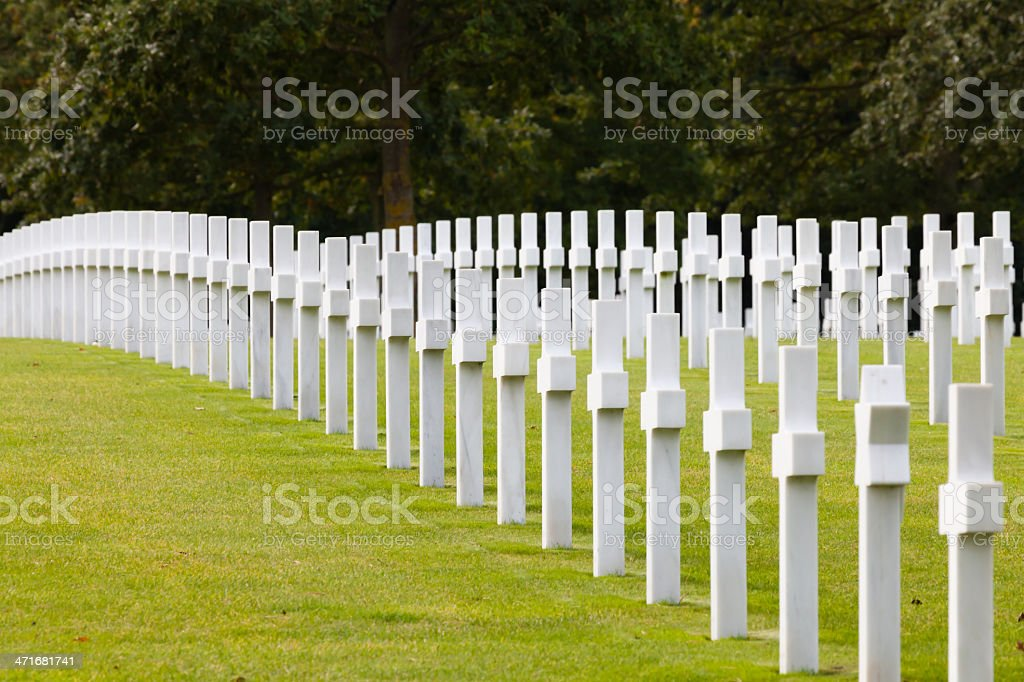 World war II cementry royalty-free stock photo