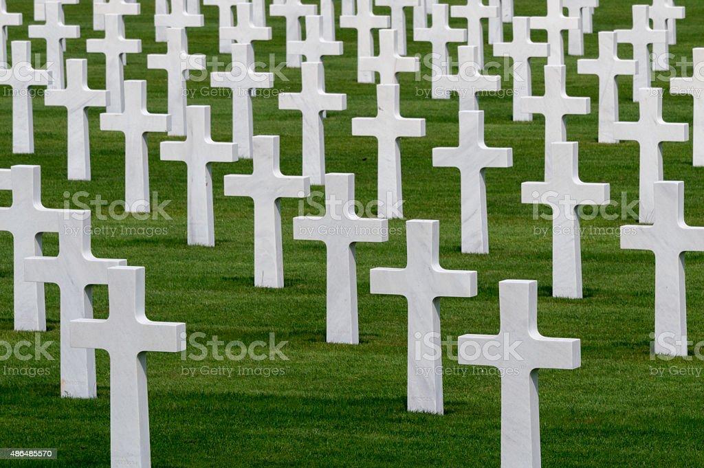 World War II cemetery stock photo