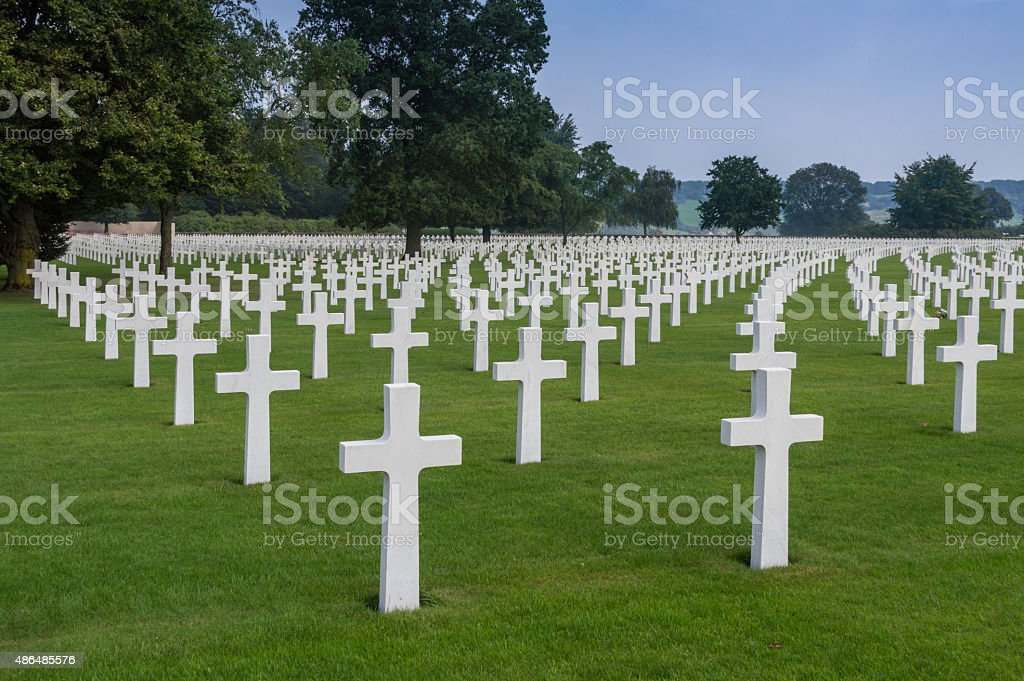 World War II cemetery stock photo