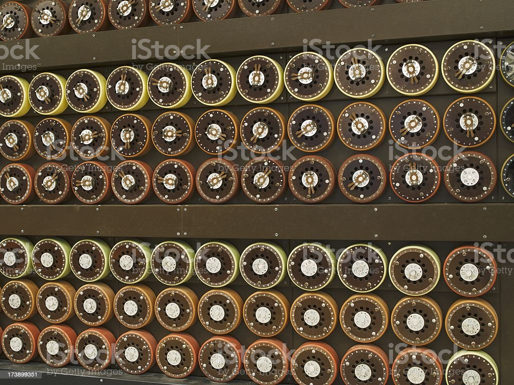 World War II code-breaking machine royalty-free stock photo