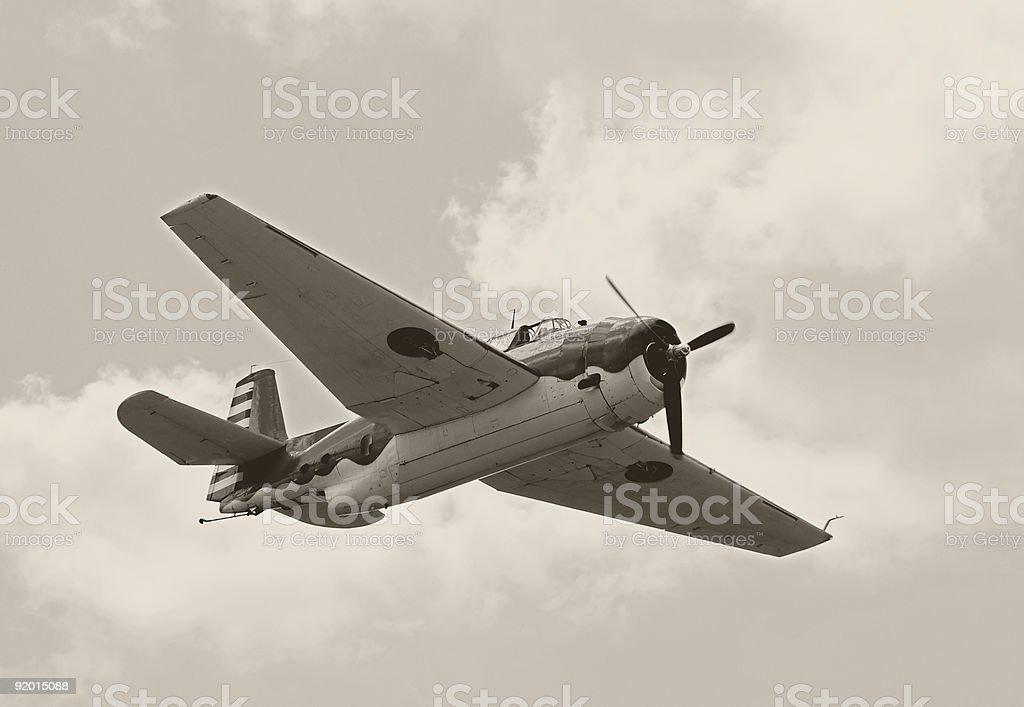 World War II era airplane royalty-free stock photo