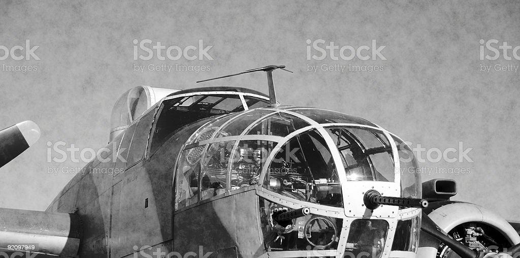 World War II era American bomber royalty-free stock photo