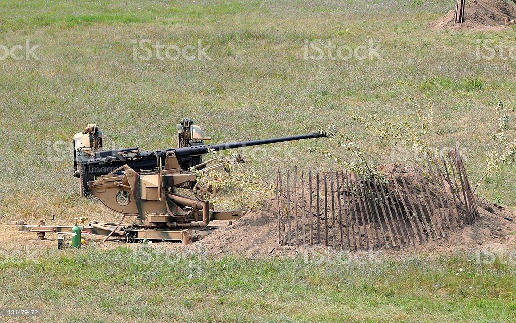 World War II era cannon stock photo