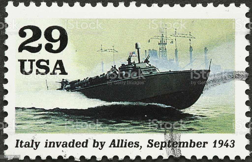 world war II fighting boats in action royalty-free stock photo