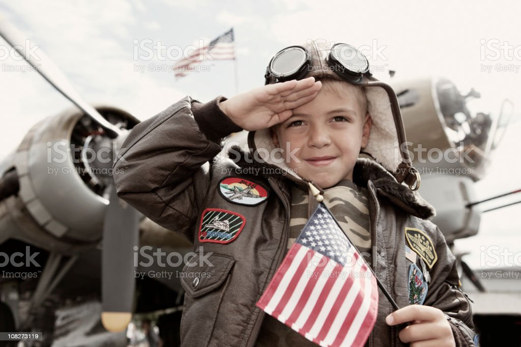 World War II Honor stock photo