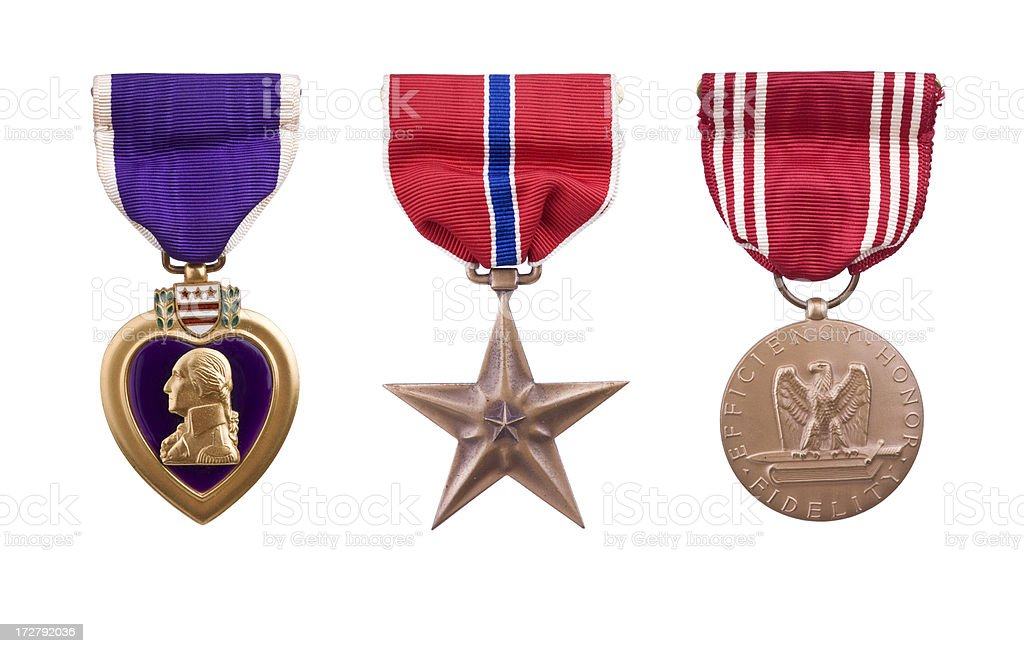 World War II Honorable Medals stock photo