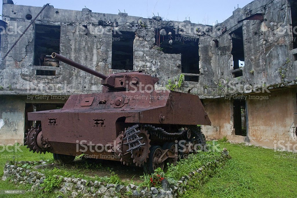 World War II Japanese Tank royalty-free stock photo