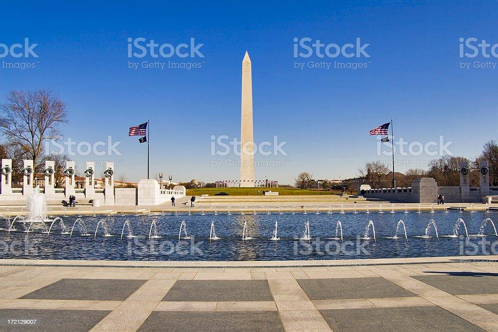 World War II Memorial in Washington DC in a sunny day stock photo