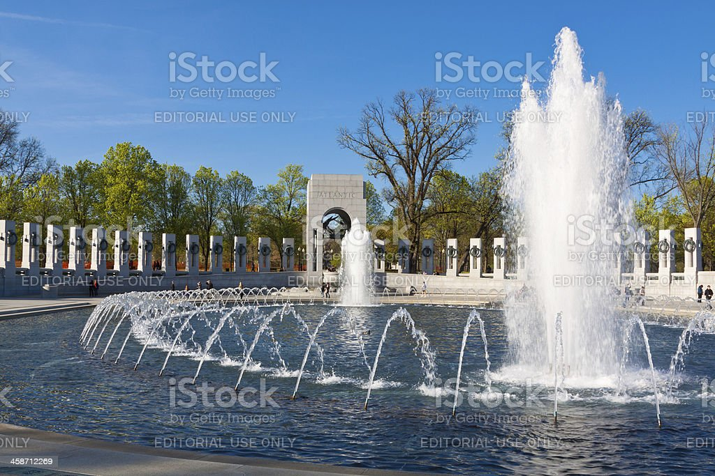 World War II Memorial, Washington DC royalty-free stock photo