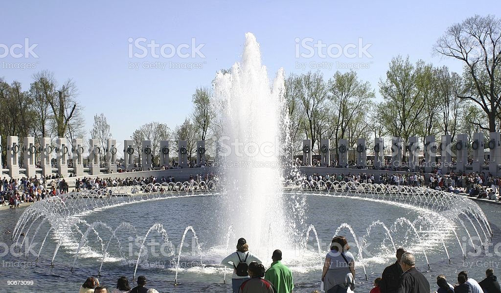 World War II memorial, Washington DC royalty-free stock photo