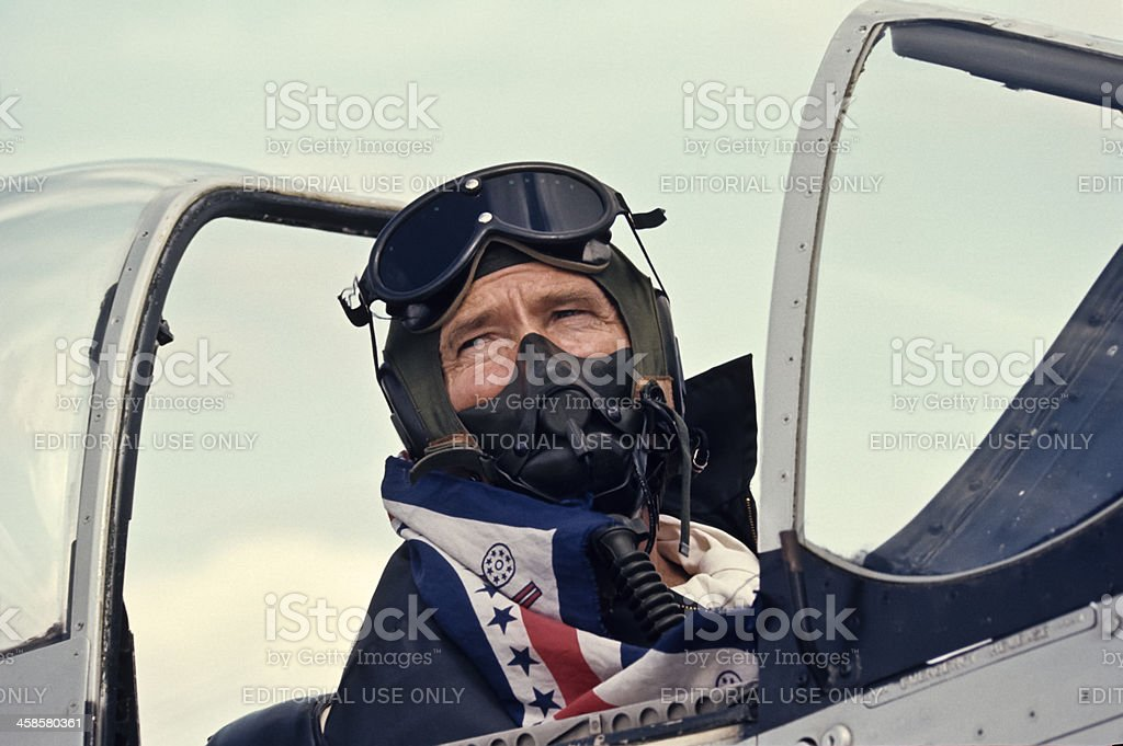 World War II P-51 Mustang Pilot stock photo