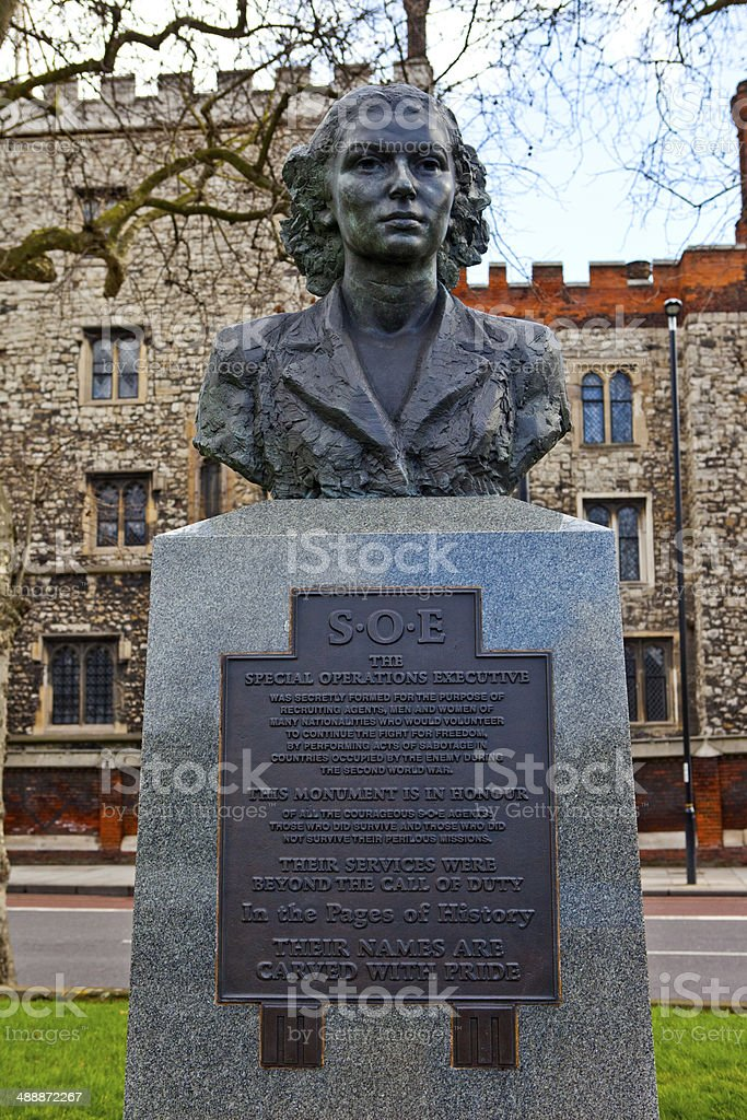 World War II Special Operations Executive Memorial in London stock photo