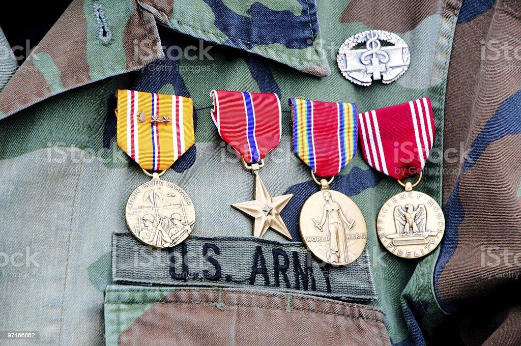 World War II veteran stock photo