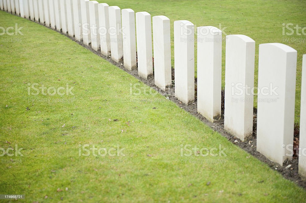 World War One Cemetery royalty-free stock photo