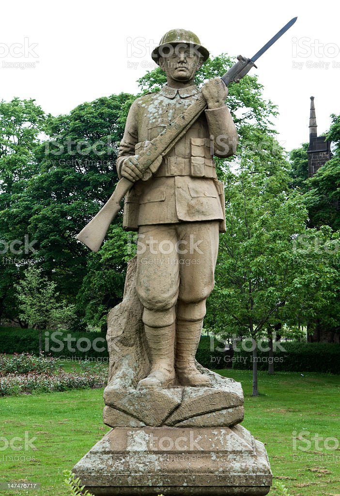 world war one memorial stock photo