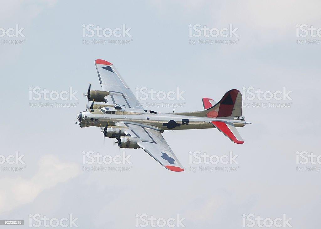 World war time B-17 bomber royalty-free stock photo
