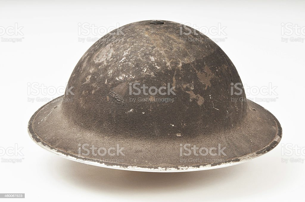 World War Two British Military 'Brodie' Helmet stock photo