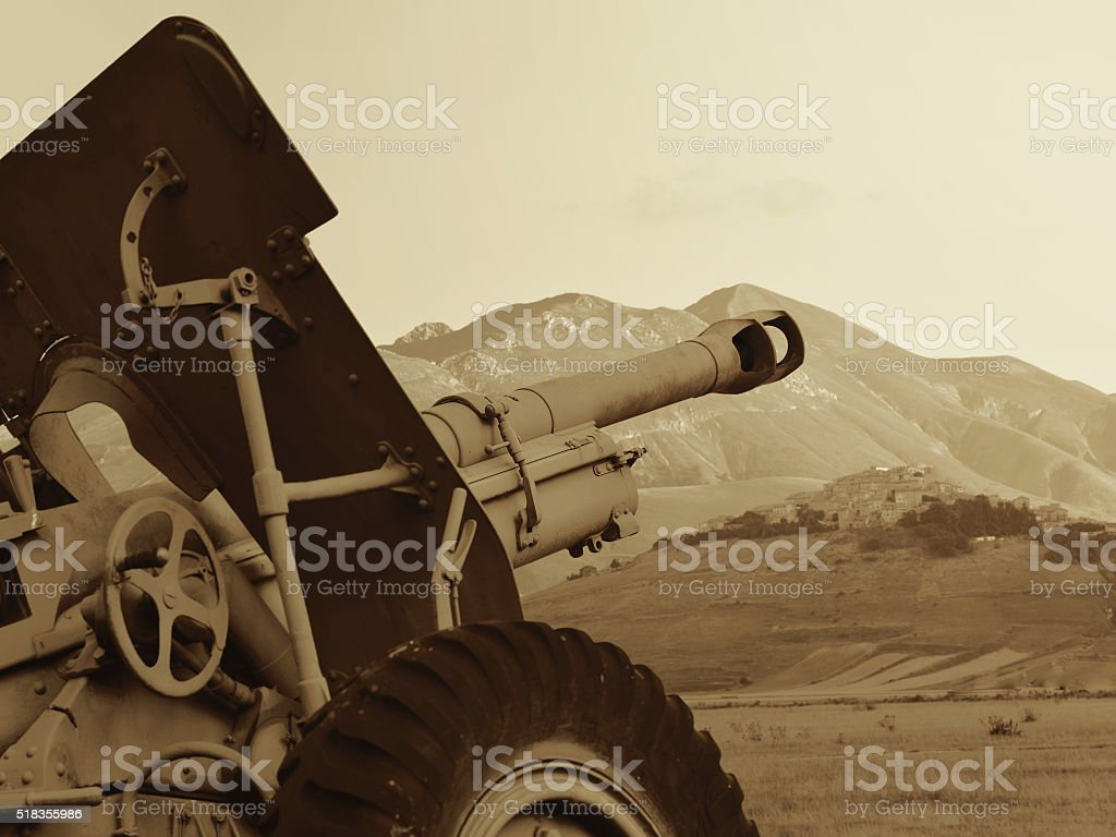 world war two cannon stock photo