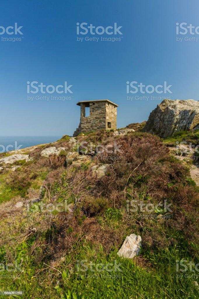 World War Two coastal observation post South Stack, United Kingdom. stock photo