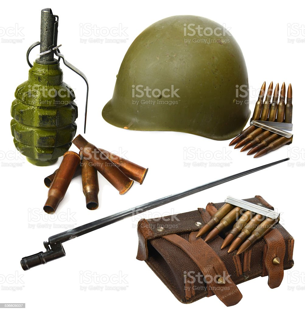World War two historical set stock photo