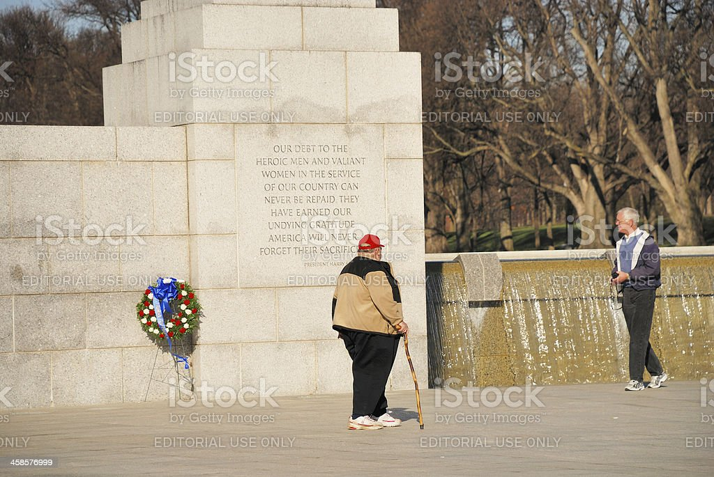 World War Two Memorial in Washington, DC royalty-free stock photo