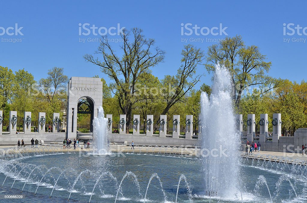 World War Two Memorial stock photo
