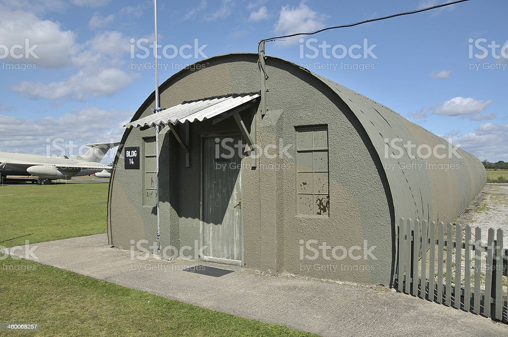 World War Two RAF Nissen Hut stock photo