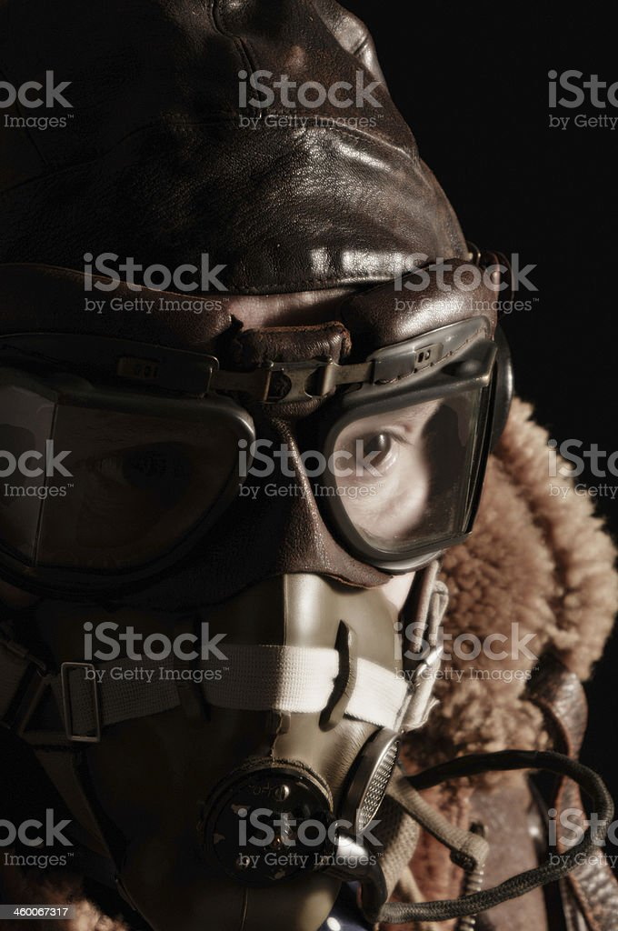 World War Two RAF Pilot stock photo