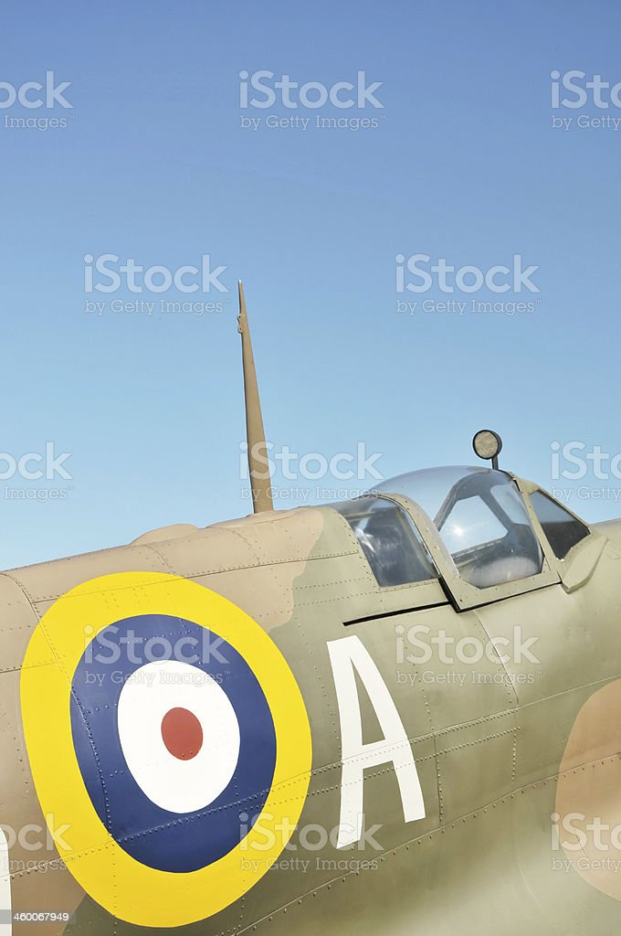 World War Two RAF Spitfire Aircraft royalty-free stock photo