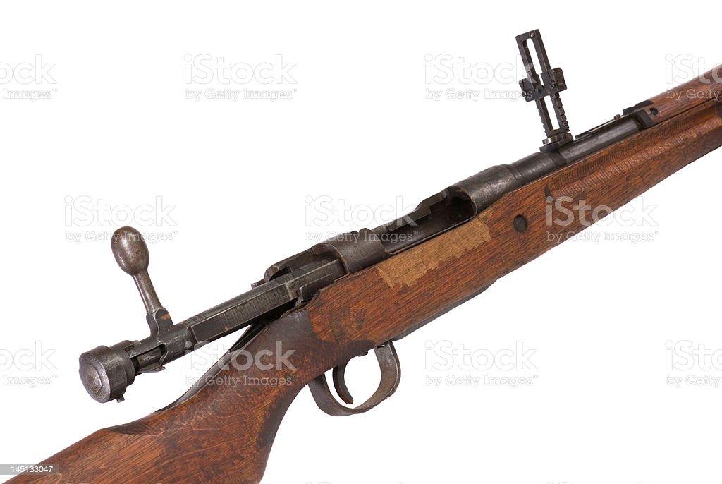 World War dois Rifle detalhe foto royalty-free